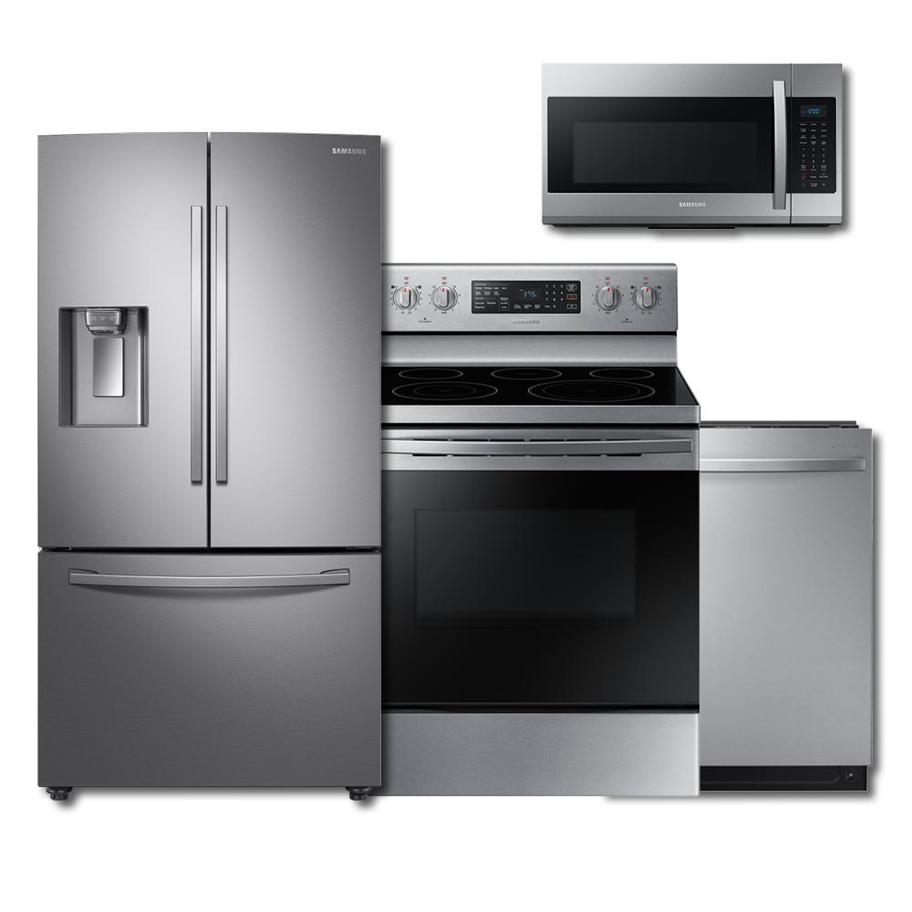 Samsung Samsung 4-Piece Kitchen Suite Package (w/ Electric Range)