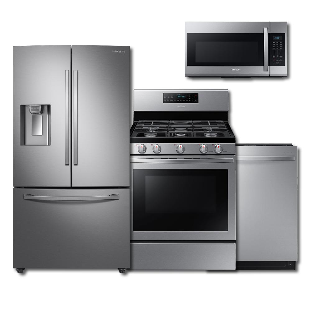 Samsung Samsung 4-Piece Kitchen Suite Package (w/ Gas Range)