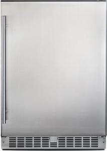 """DANBY 24"""" 5.5 cu. ft. Compact All Refrigerator with 3 Glass Shelves RH SS"""