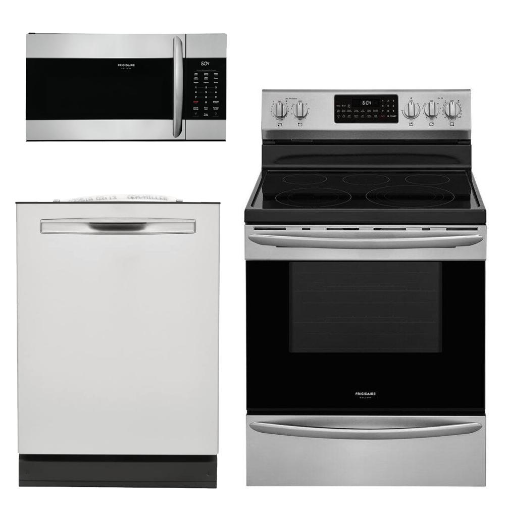 Frigidaire Gallery 3-Piece Kitchen Suite Package (w/ Electric Range)