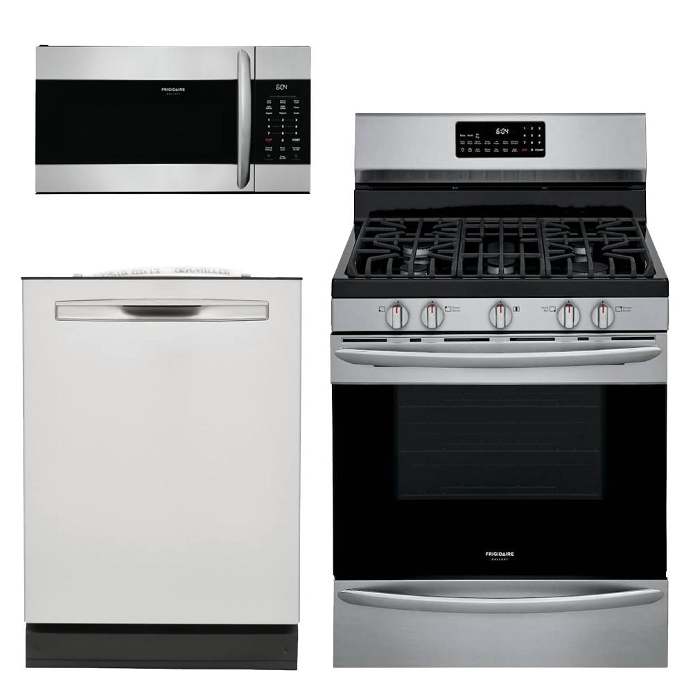 Frigidaire Gallery 3-Piece Kitchen Suite Package (w/ Gas Range)