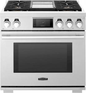 "Signature - 36"" 6.3 Cu. Ft. Self-Cleaning Freestanding Dual Fuel Convection Range"