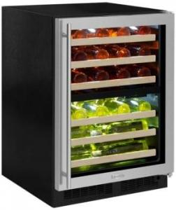 MARVEL Built-In Dual Zone Wine Refrigerator with 40-Bottle Capacity