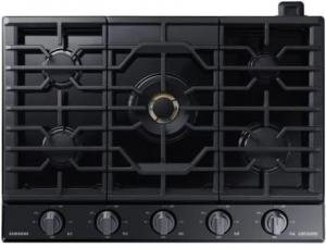 "SAMSUNG 30"" 5-Burner Smart Gas Cooktop with WiFi, Bluetooth - UNCRATED"