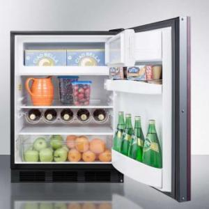 """SUMMIT 24"""" Built-in Under Counter Refrigerator with Adjustable Glass Shelves Panel Ready"""